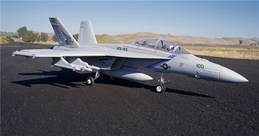 FMS RC Airplane F/A-18F F18 Super Hornet 70mm Ducted Fan EDF Jet Big Scale Model Plane Aircraft PNP 6CH 6S with Retracts Flaps