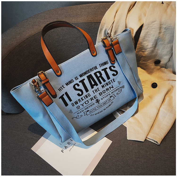 Luxury Ladies Bags Canvas Fashion Large Capacity Tote Bags Letter Shoulder Messenger Bags for Women 2018 Casual Tote Luis Vuiton 24
