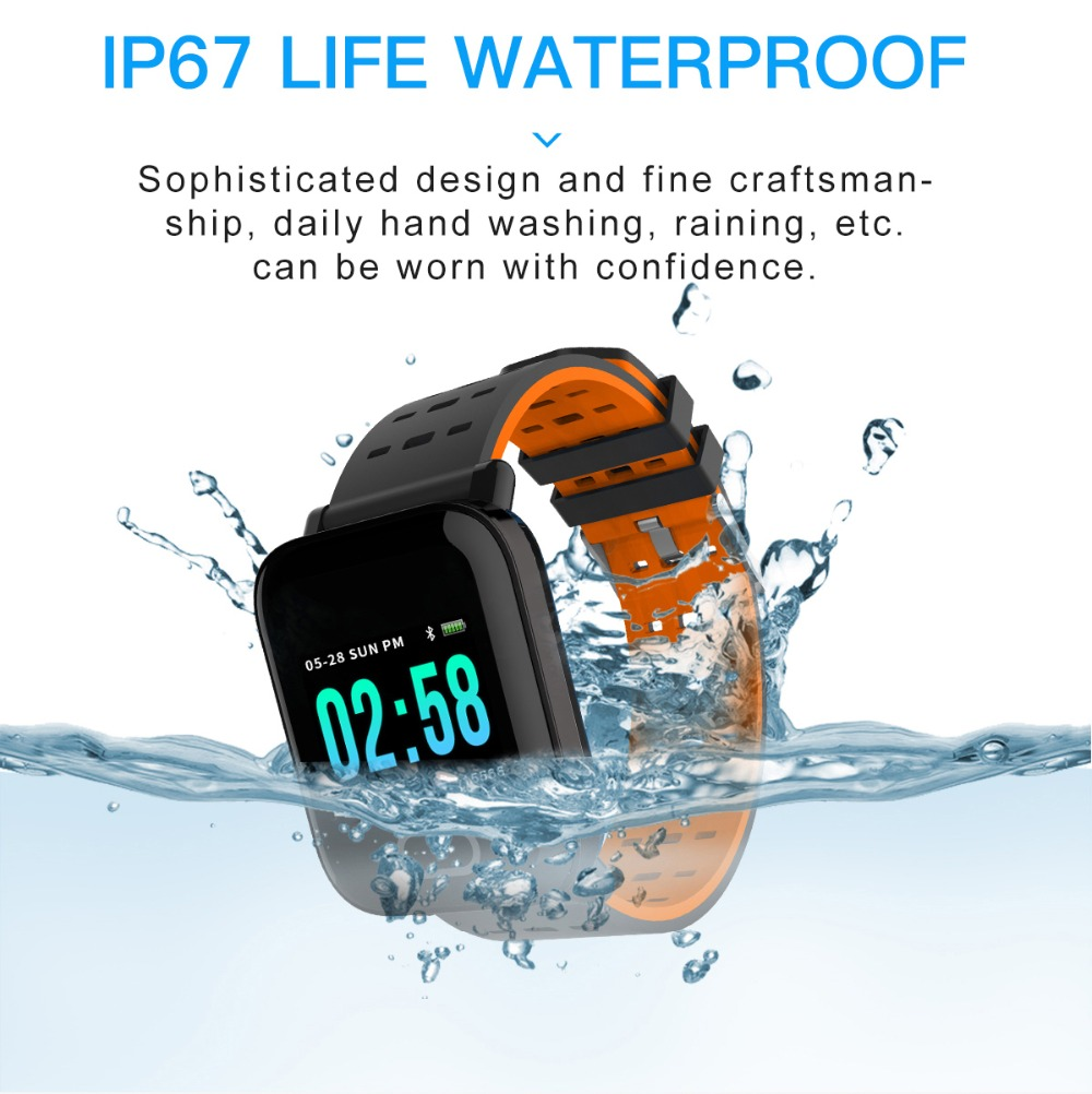 Q6 Smartwatch IP67 Waterproof Wearable Device Bluetooth Pedometer Heart Rate Monitor Color Display Smart Watch For AndroidIOS (9)