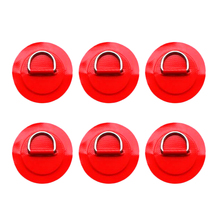 MagiDeal 6pcs 3.15 Stainless Steel D Ring Pad Patch for PVC Inflatable Boat Raft  Dinghy Kayak Canoe SUP Surfboard Accessories