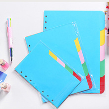 A5/A6 6 Holes Vertical Version Paper Notebook's Index Page Spiral Book Category Page Office Planner Accessories Slip Sheet a5 a6 6 holes vertical version paper notebook s index page spiral book category page office planner accessories slip sheet