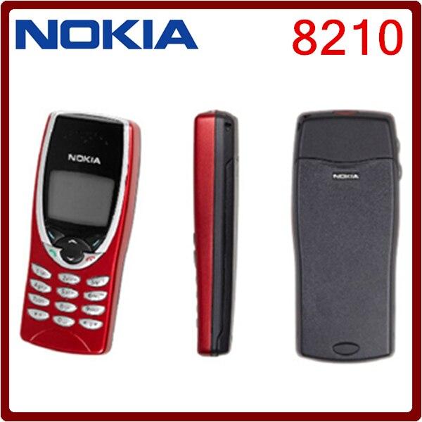 Цена за 8210 Оригинал Nokia 8210 GSM 2 Г Разблокирована Дешевый Сотовый Телефон Один год гарантии Бесплатная Доставка