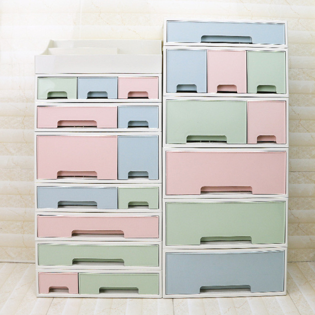 Plastic Large Drawers Jewelry Cosmetic Desk Make Up Organizer Makeup