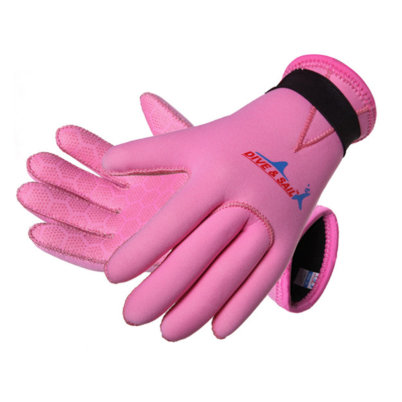 Children Diving Gloves 3MM Neoprene  Anti-wear Drift Swimwear Snorkeling Diving Swimming Warm Snorkeling, Hand Protection