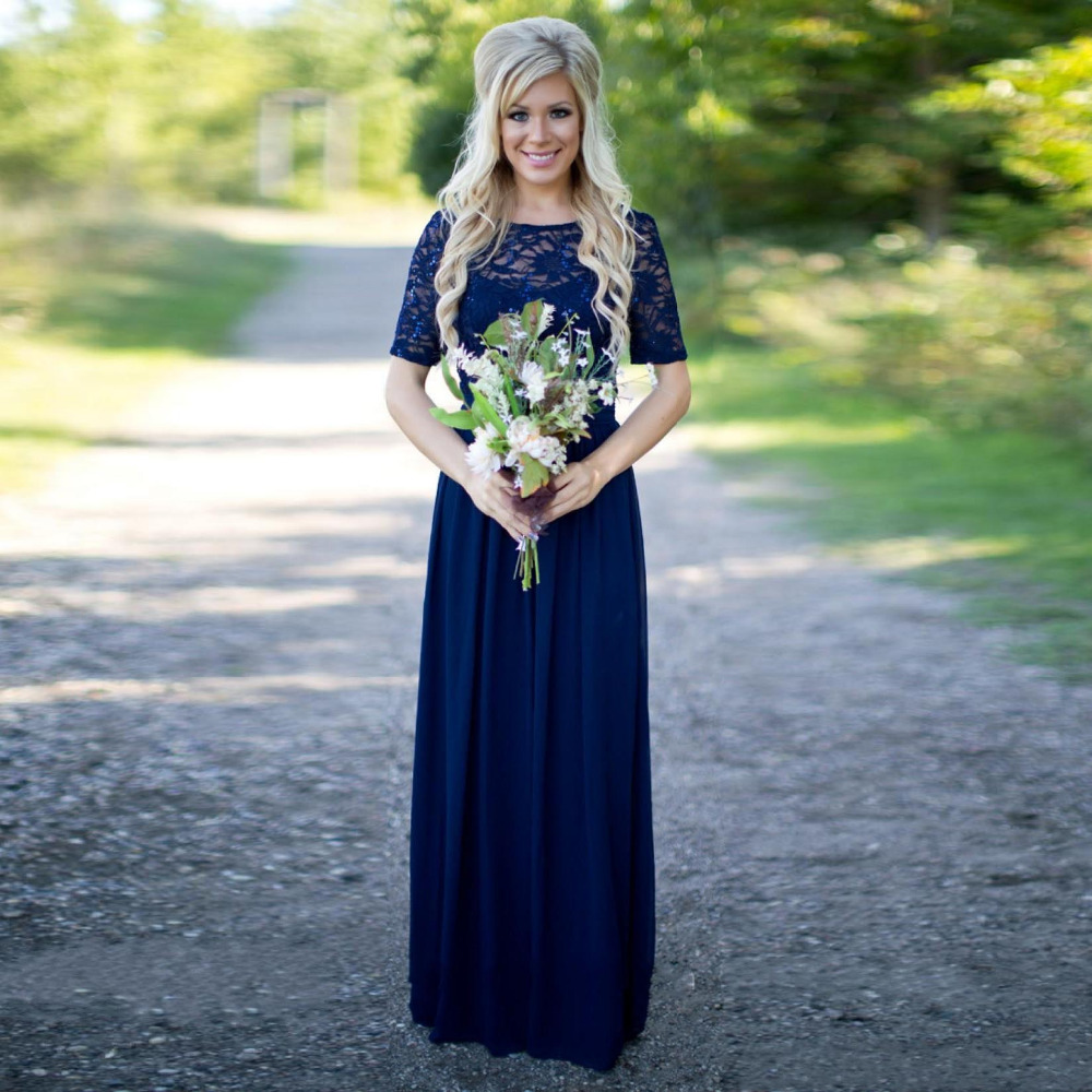 Aliexpress.com : Buy Navy Blue Bridesmaid Dresses Summer