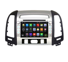 Free camera ROM 16G Fit Hyundai SANTA FE 2006 2007 2008 – 2012 1024*600 Quad Core Android 5.1.1 Car DVD Player 3G Radio GPS TV