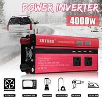 Inverter 12V 220V 4000W Peak Car Power Inverter Voltage Transformer Converter 12 220 Charger Solar Inversor 12V 220V LCD Display