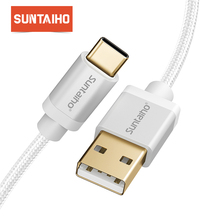 Suntaiho Type C Nylon Cable 0.25m/1m/2m/3m Fast Charger USB C Cable 3.1 For Huawei P20 Pro/Mate10 for xiaomi mi9 for samsung s9
