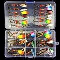 Набор рыболовных приманок  набор рыболовных приманок  ложка  набор металлических приманок с блестками DD  рыболовные приманки с коробкой  тр...