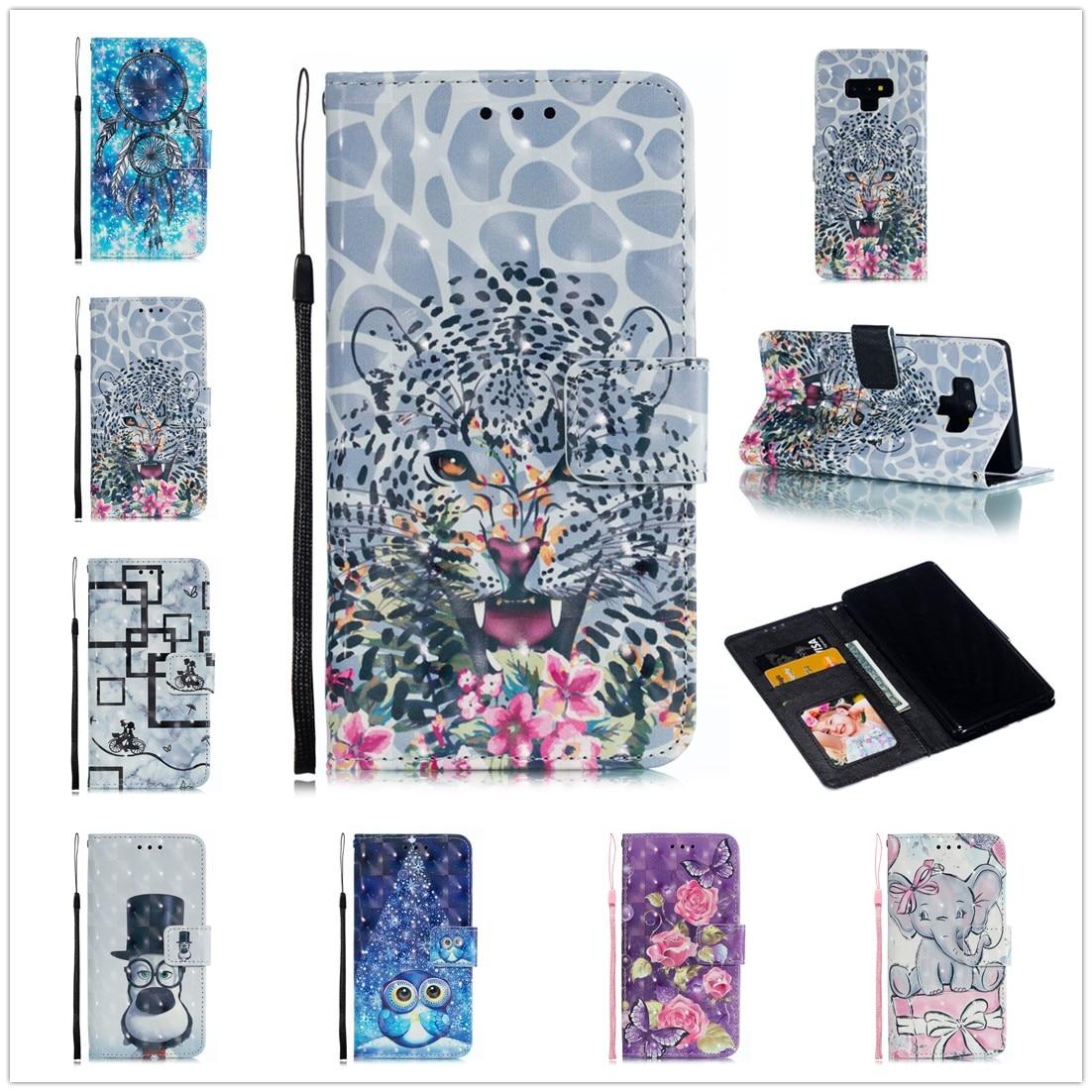 For Samsung S9 Plus Flip Leather Book Funda Samsung Note 9 8 Phone Case New Design For Galaxy S10 E S8 Plus S7 Edge Full Capa