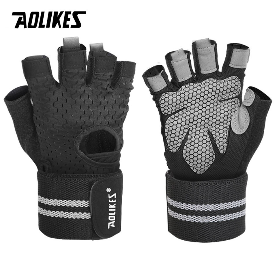 Weight Lifting Fitness Gym Exercise Gloves Cycling Body Building Half Finger
