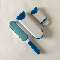 Pet Cat Dog Hair Remover Brush With Self Cleaning Base Fur Lint Cleaner Tools For Furniture