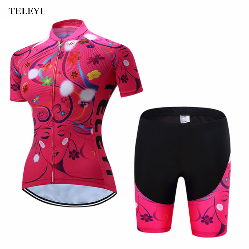 Bib Shorts Set Short Sleeve Ropa Ciclismo XS-4XL Female Cycling Bike Jersey