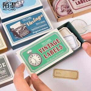 Image 3 - 60 ピース/箱ヴィンテージ植物旅行マッチ箱日記ステッカーレトロスクラップブッキングスタンプ韓国かわいいステッカーラベル