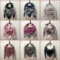100 color Manta de Tartán A Cuadros de Cachemira bufanda de Acrílico bufanda de las mujeres 2016 Nuevo invierno Za hermosa mujer de la señora desigual Bufanda caliente