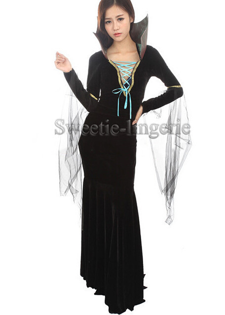 aliexpresscom buy female bat mermaid tail dress black witch halloween costumes for women spider disfraces adultos vampire cosplay costume robe from - Spider Witch Halloween Costume