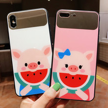 VR VAVA Shell Case Hard Makeup Mirror Cover For iPhone 7 Plus X XS XR Xs Max 8 Cases 6 Cute Animal