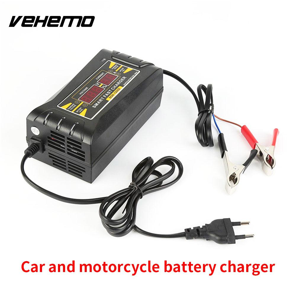 2018 Automatic Battery Charger Fast Car Battery Charger Jump Starters Car Accessories Smart Motorcycle