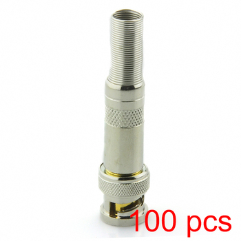 100x Copper Core Solderless BNC Male Connector Plug to RG59 Coax Cable Coupler