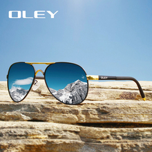 OLEY fashion pilot polarized sunglasses classic round leg goggles outdoor UV protection sun glasses Support logo customization