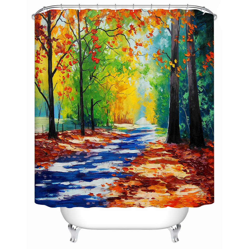 Charmhome High Quality Waterproof Fabric Bathroom Shower Curtain Barrier Shower Accessories