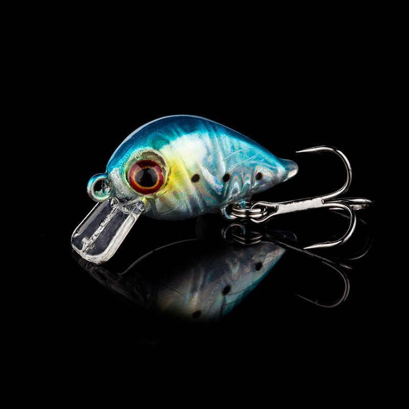 1Pcs 3cm 1.5g topwater Bơi Cá Mồi Dụ Cá Nhân Tạo Cứng Quay Mồi Wobbler Nhật Bản Câu Cá Mini Crankbait dụ WD-033