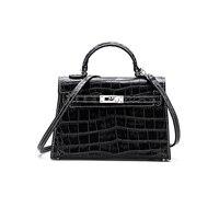 New Mini Kelly Bag Sac A Main Femme Genuine Leather Alligator Platinum Handbag 2018 Large Capacity Fashion Single Shoulder Bag
