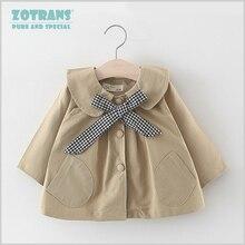 Пальто для новорожденных девочек милые Куртки Осенняя ветровка для малышей, Весенняя верхняя одежда для детей Детское пальто с бантом, на возраст от 0 до 36 месяцев
