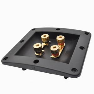 Connecteur de câble Audio | 2 pièces, quatre haut-parleurs, boîte de jonction, câble Audio, bornier, fiche banane, siège plaqué cuivre or offre spéciale