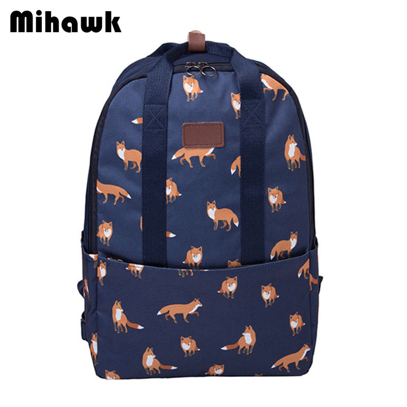 Mihawk Cartoon Fashion Cute Backpack Girl's Boy's Travel Bag Animal Pattern Waterproof Storage Pouch Accessories Supply Products mihawk women s fashion animal portable handbags shoulder pouch messenger pouch storage belongings organizer accessories products