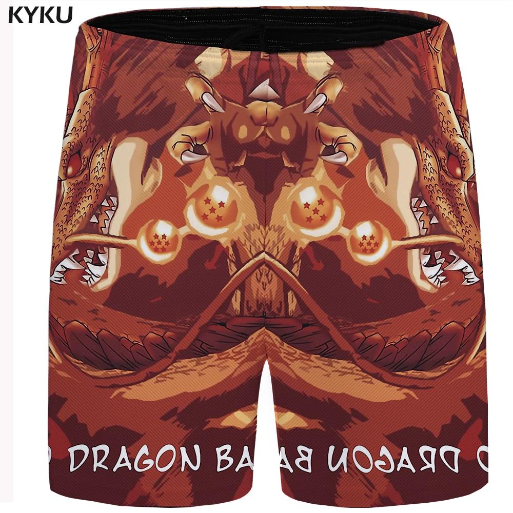 KYKU Brand Dragon Ball Short Men Beach Shorts Cargo Character 3d Print Casual Short Animal Mens Shorts 2018 New Summer Plus Size