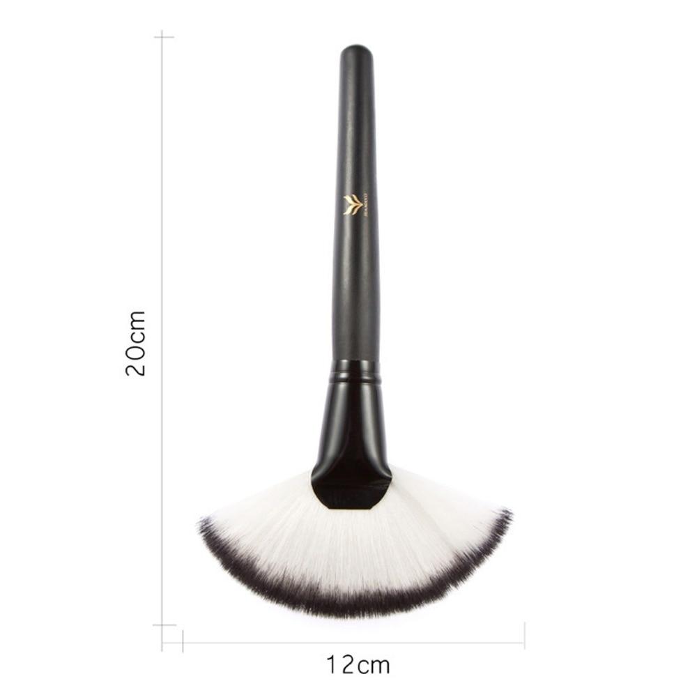 100pcs/LOT Full Size Powder Brush Skin Care Black 187 Duo Fiber Stippling Brush Make Up Tools,Free Shipping