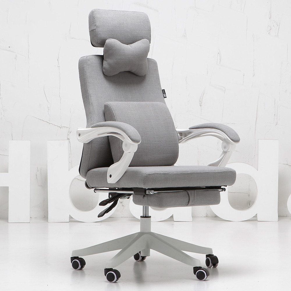 Rotatable Swivel Computer Chair Ergonomic Leisure Office Chair Lifting Siesta Lying Footrest Lengthen Backrest Linen Cushion high quality ergonomic computer chair mesh office chair lifting rotatable swivel student chair comfortable handrest sedie uffici