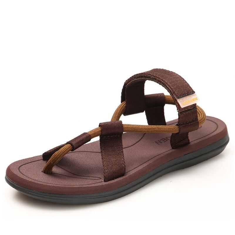 Männer Strand Sandalen Hohe Qualität Sommer Flache Schuhe Alias Rom Stil Große Größe Outdoor Skid Schuhe Männlichen dias Mode Müßiggänger