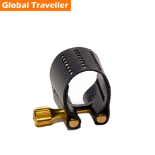 1 pcs professional Bakelite Saxophone Mouthpiece Ligature Clip for Alto(Eb)/Tenor(Bb)/Soprano(Bb) Saxophone /Clarinet(Bb) use selmer soprano b flat bb sax metal mouthpiece 7 size for saxophone beginner gold plated saxe