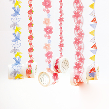 10PCS Shaped Masking Tape Creative Fresh Hand Diary DIY Decorative Stickers 6 Flowers paper Washi Adhesive Tape Scrapbooking цена и фото