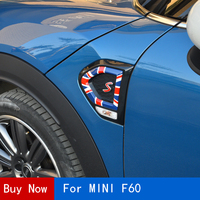 2Pcs Car Front Fender Decorative Cover Sticker Side Light decal Modification For BMW MINI F60 Countryman Car Styling Accessories
