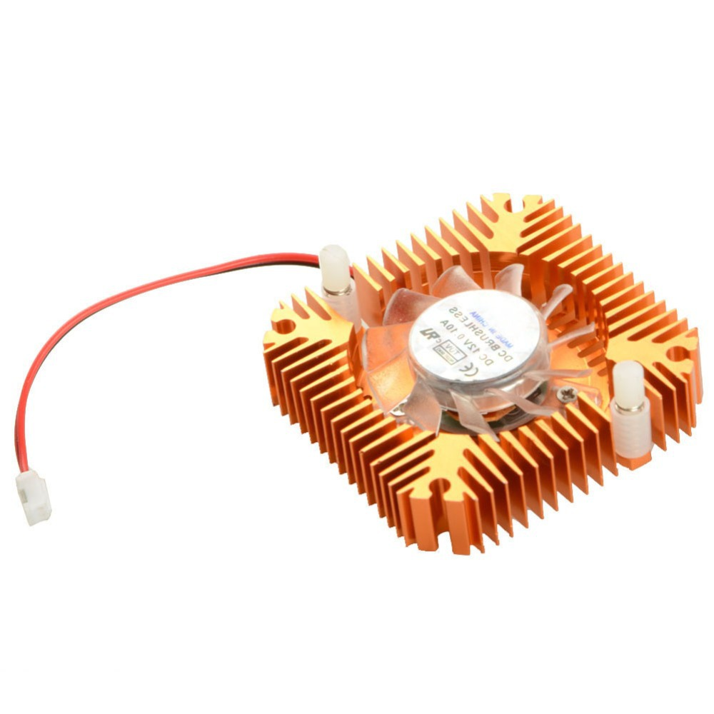 55mm 2 PIN Graphics Cards Cooling Fan Aluminum Gold Heatsink Cooler Fit For Personal Computer Components Fans Cooler VC899 P72