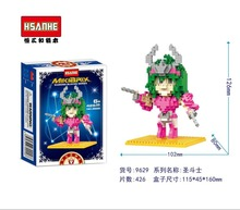 HSANHE 9629 Saint Seiya Series IKKI Warrior Education Minifigure Diamond Bricks Minifigure Building Block Toys Gift