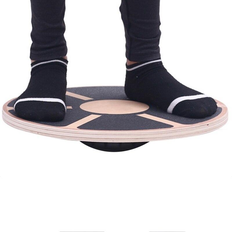 Disque de Fitness antidérapant Gym taille noyau de musculation plaque d'entraînement Yoga en bois oscillant conseil d'équilibre exercice stabilité formateur