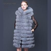 Natural Fox Hair Sleeveless 2017 New Fashion 100 Real Fox Fur Waistcoat Winter High Quality Women