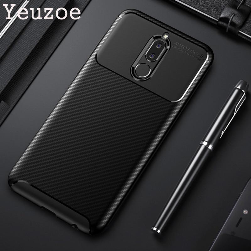 Yeuzoe Cover For Huawei Mate 10 Lite Case Carbon Fiber Ultra Thin Silicone Soft TPU Case For Huawei Nova 2i Nova2i Maimang 6 G10