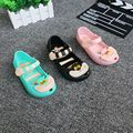 YNB Kids Mini Melissa Shoes for Girls Jelly Shoes Closed Tole Sandals Baby Toddler Children Cartoon Sandals for Girls US5-8