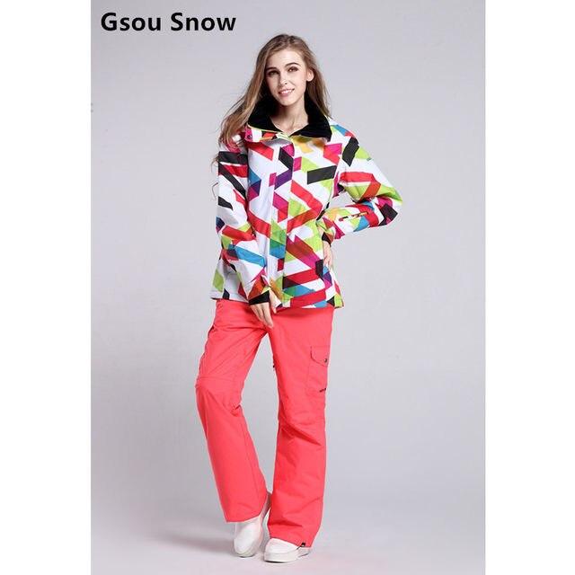 95d076ab17 Online Shop GSOU SNOW Cool winter women jackets brand ski wear ...