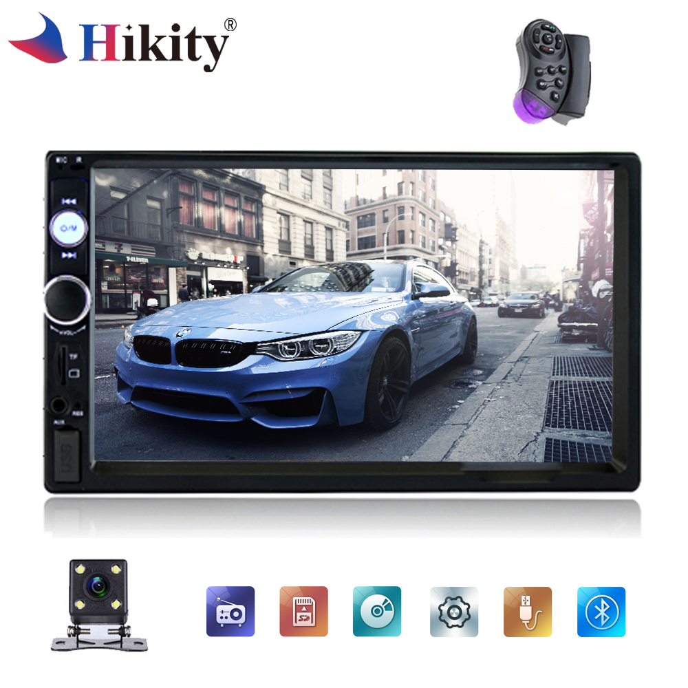 Hikity 7 HD Car Radio 2 Din Touch Screen Bluetooth Stereo Car Multimedia Player Support FM/MP5/USB Autoradio Rear View Camera car mp5 player stereo bluetooth radio car audio hd 7 inch 2 din touch screen autoradio handsfree support rear view camera player