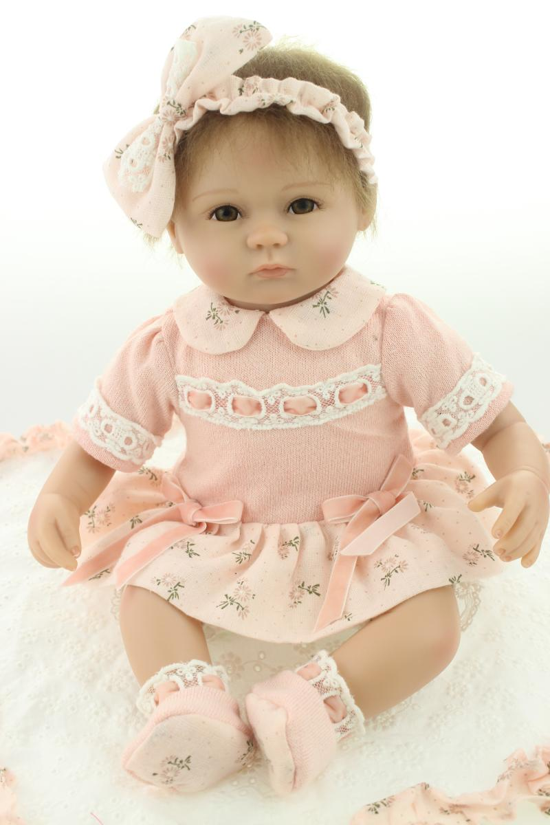 ФОТО Silicone reborn baby doll toys for girl, lifelike 18
