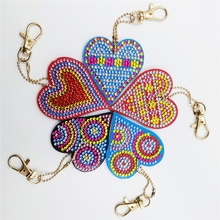 5D DIY Diamond Painting Cross Stitch 5pcs/set Drill Love Heart Butterfly Keychain Key Ring Embroidery  алмазная вышивка