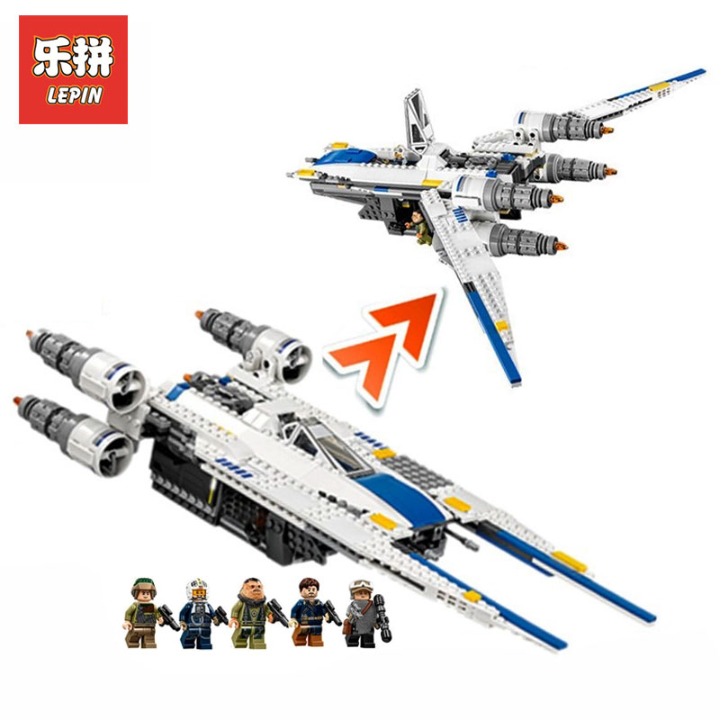 Lepin 05054 Star Wars Genuine Series U Wing StarFighter Set Building Blocks Bricks Educational Kids Child Toys LegoINGlys 75155 конструктор lepin star plan истребитель повстанцев u wing 679 дет 05054