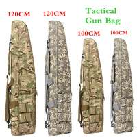120CM 100CM Tactical Waterproof Rifle Storage Case Backpack Military Gun Bag With Padded Shoulder Strap And