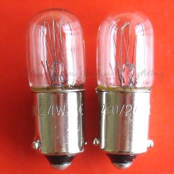 New!miniature Bulb Light 220/240v 2.4w Ba9s T10x28 Free Shipping A591